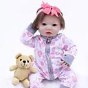 זול כלי אוכל-OtardDolls בובה מחדש תינוקות בנות 16 אִינְטשׁ כְּמוֹ בַּחַיִים, עיניים מלאכותיות עיניים חומות הילד של בנות מתנות