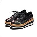 povoljno Ženske sandale-Žene Cipele Mekana koža Proljeće / Ljeto Udobne cipele Oksfordice Creepersice Zatvorena Toe Crn