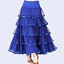 cheap Latin Dance Wear-Ballroom Dance Bottoms Women's Performance Tulle / Milk Fiber Ruching / Paillette Natural Skirts