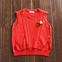 ieftine Pantaloni Băieți-Copil Băieți De Bază Mată Fără manșon / Manșon Lung Poliester Sfeter & Cardigan Roșu-aprins 130