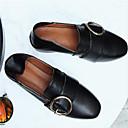 זול סניקרס לנשים-בגדי ריקוד נשים נעליים עור אביב קיץ נוחות נעליים ללא שרוכים עקב נמוך בוהן עגולה שחור / ורוד / שקד