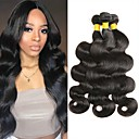 cheap Human Hair Weaves-3 Bundles Malaysian Hair Wavy 8A Human Hair Natural Color Hair Weaves / Hair Bulk Extension 8-28 inch Black Natural Color Human Hair Weaves New Arrival 100% Virgin Human Hair Extensions Women's Unisex
