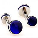preiswerte Fenster Schürze-Kreisform Blau Manschettenknöpfe Kupfer MOON Formell / Elegant Herrn Modeschmuck Für Professionell / Büro & Karriere