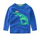 povoljno Džemperi i kardigani za dječake-Djeca Dječaci Aktivan Print Dugih rukava Poliester Majica s kratkim rukavima Sive boje 130