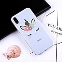 ieftine Cazuri telefon & Protectoare Ecran-Maska Pentru Apple iPhone X / iPhone 8 Plus Model Capac Spate Desene Animate Moale TPU pentru iPhone X / iPhone 8 Plus / iPhone 8