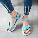 povoljno Ženske sandale-Žene Cipele PU Ljeto Udobne cipele Sandale Ravna potpetica Obala / Plava / Pink