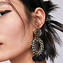 cheap Necklaces-Women's Hollow Rope Drop Earrings - Spike Stylish, Bohemian, Korean Pink / Black / White / Light Blue For Daily Street