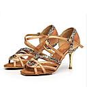 preiswerte Latein Schuhe-Damen Schuhe für den lateinamerikanischen Tanz Satin / Seide Absätze Schlanke High Heel Tanzschuhe Schwarz / Grau / Braun