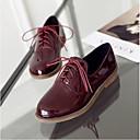 olcso Női Oxford cipők-Női Cipő Lakkbőr Tavasz / Nyár Kényelmes Félcipők Lapos Zárt orrú Fekete / Bézs / Piros