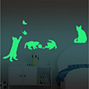 baratos Adesivos de Parede-Autocolantes de Interruptores de Luz - Autocolantes de Aviões para Parede / Autocolantes de Parede Luminosos Halloween / Feriado Interior / Quarto das Crianças