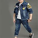 povoljno Jakne i kaputi za dječake-Djeca Dječaci Osnovni Jednobojni Dugih rukava Komplet odjeće