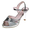 ieftine Pantofi Joși de Damă-Pentru femei PU Vară Pantof cu Berete Sandale Toc Înalt Paiete Auriu / Argintiu