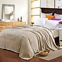 זול שמיכות וכיסויים-שמיכות מיטה, אחיד כותנה / פוליאסטר תירגעי סמיך