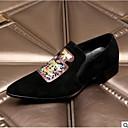 זול נעלי אוקספורד לגברים-בגדי ריקוד גברים נעליים פורמליות עור קיץ נעליים ללא שרוכים שחור / משרד קריירה