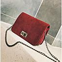 povoljno Torbe preko ramena-Žene Torbe Velvet Torba za rame Patent-zatvarač Crn / Red / Blushing Pink