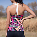 cheap Fitness, Running & Yoga Clothing-Women's Scoop Neck Double-T Back Yoga Top Blue Fuchsia Dark Navy Sports Fashion Tank Top Zumba Running Fitness Sleeveless Activewear Lightweight Breathable Quick Dry Micro-elastic