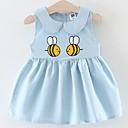 ieftine Set Îmbrăcăminte Bebeluși-Bebelus Fete Activ Imprimeu Brodat Fără manșon Sub Genunchi Bumbac Rochie / Copil