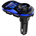 cheap Bluetooth Car Kit/Hands-free-Bluetooth Car Kit Handsfree Wireless FM Transmitter Car MP3 Player with 1.4 inch Large LCD Screen Support TF Card/U Disk