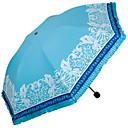 abordables Fundas de Almohada-Poliéster / Acero Inoxidable Mujer Soleado y lluvioso Paraguas de Doblar