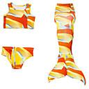 זול סטים של ביגוד לבנות-בנות חמוד פעיל דפוס בגדי ים, כותנה פוליאסטר ללא שרוולים כתום