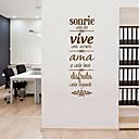 ieftine Acțibilde de Perete-Autocolante de Perete Decorative - 3D Acțibilduri de Perete / Cuvinte și citate autocolante de perete Personaje / Forme Cameră de studiu / Birou / Birou
