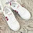 preiswerte Damen Sportschuhe-Damen Schuhe Mikrofaser Frühling / Sommer Komfort Sneakers Flacher Absatz Runde Zehe Weiß / Schwarz / Rot
