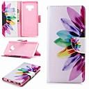 hesapli iPhone Kılıfları-Pouzdro Uyumluluk Samsung Galaxy Note 5 / Note 4 / Note 3 Cüzdan / Kart Tutucu / Satandlı Tam Kaplama Kılıf Çiçek Sert PU Deri