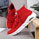 זול נעלי ספורט לגברים-בגדי ריקוד גברים סריגה קיץ נוחות נעלי ספורט שחור / אפור / אדום