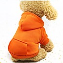 billige Hundeklær-Hunder / Katter / Små pelsdyr Hettegensere / Genser / Drakter Hundeklær Ensfarget kaffe / Rød / Rosa Bomull Kostume For kjæledyr Dame Sport og friluft / Avslappet / Sportslig