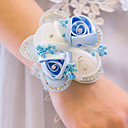 baratos Bouquets de Noiva-Bouquets de Noiva Buquê de Pulso Festa / Festa de Casamento Poliéster 0-10 cm