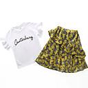 ieftine Seturi Îmbrăcăminte Fete-Copil Fete De Bază Mată Manșon scurt Set Îmbrăcăminte