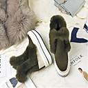 povoljno Ženske sandale-Žene Cipele Brušena koža Zima Udobne cipele Sneakers Wedge Heel Crn / Vojska Green