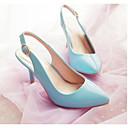 povoljno Ženske cipele s petom-Žene Cipele PU Proljeće Udobne cipele Cipele na petu Stiletto potpetica Bež / Plava / Pink