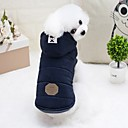 cheap Dog Clothes-Rodents / Dogs / Rabbits Puffer / Down Jacket Dog Clothes Solid Colored Gray / Light Blue Cotton Costume For Pets Female Fashion / Euramerican