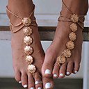 cheap Anklet-Barefoot Sandals - Flower Vintage Gold / Silver For Daily / Casual / Sports / Women's