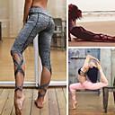 ieftine Îmbrăcăminte de Fitness, Alergat & Yoga-Pentru femei Capăt cu ață Pantaloni de yoga - Negru, Roz pal, Gri Sport Culoare solidă Spandex 3/4 Ciorapi Balet, Fitness, Dans Îmbrăcăminte de Sport  Confortabil la umezeală, Respirabil, Απαλό Strech