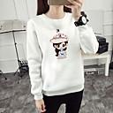 billige Hættetrøjer og sweatshirts til damer-Dame Basale Sweatshirt - Ensfarvet