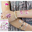 halpa tatuointi tarroja-3 pcs Metallinen väliaikaiset tatuoinnit Kukkasarjat / Romanttinen sarja Ekologinen / Uusi malli kehon koristelu Bodi / varsi / ranne / Metallikorut tatuoinnit / Tarratyyppiset tilapäiset tatuoinnit