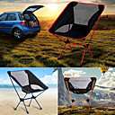 cheap Camp Kitchen-Camping Folding Chair Outdoor Lightweight Aluminium Alloy 7005, Oxford Cloth for Fishing / Beach / Camping - 1 person Orange / Dark Blue