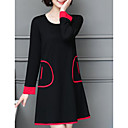 preiswerte Stepptanzschuhe-Damen Übergrössen Etuikleid Kleid - Tasche, Solide Übers Knie
