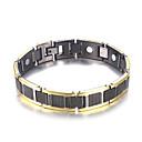 cheap Men's Bracelets-Men's Stylish Hologram Bracelet Bracelet Nugget Link Bracelet - Creative Trendy, Casual / Sporty, Fashion Bracelet Black / Silver For Birthday Gift