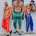 cheap Running Shirts, Pants & Shorts-Men's Pocket Running Pants / Track Pants - Purple, Green, Blue Sports Stripe Woven Pants Fitness, Gym, Workout Activewear Breathable, Wearable, Sweat-wicking Micro-elastic Skinny / Winter