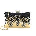 baratos Clutches & Bolsas de Noite-Mulheres Bolsas Poliéster Bolsa de Festa Miçangas / Detalhes em Cristal Floral Dourado
