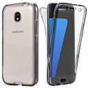 cheap Cell Phone Cases & Screen Protectors-Case For Samsung Galaxy J7 (2017) / J5 (2017) Transparent Full Body Cases Solid Colored Soft TPU for J7 (2017) / J6 / J5 (2017)