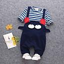ieftine Pantaloni Băieți-Bebelus Băieți De Bază Zilnic Dungi / Geometric Manșon Lung Regular Bumbac Set Îmbrăcăminte Roșu-aprins 100 / Copil