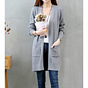 cheap Wedding Shoes-Women's Long Sleeve Slim Long Cardigan - Solid Colored