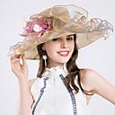 baratos Acessórios de Cabelo-Tule Chapéus com Penas / Flor 1pç Casamento / Festa / Noite Capacete