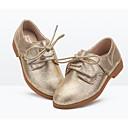 povoljno Cipele za djevojčice-Djevojčice Cipele Koža Proljeće & Jesen Udobne cipele Oksfordice za Zlato / Tamno siva