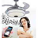 baratos Ventiladores de Teto-Ecolight™ Geométrica / Novidades Ventilador de teto Luz Ambiente - Ajustável, Controle Wi-Fi, Controle de Bluetooth, 110-120V / 220-240V, RGB, Fonte de luz LED incluída