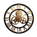 baratos Relógios de Parede em Lona-Moderno / Contemporâneo / Tradicional De madeira Redonda Interior / Exterior / Interior / Ao ar Livre,Bateria